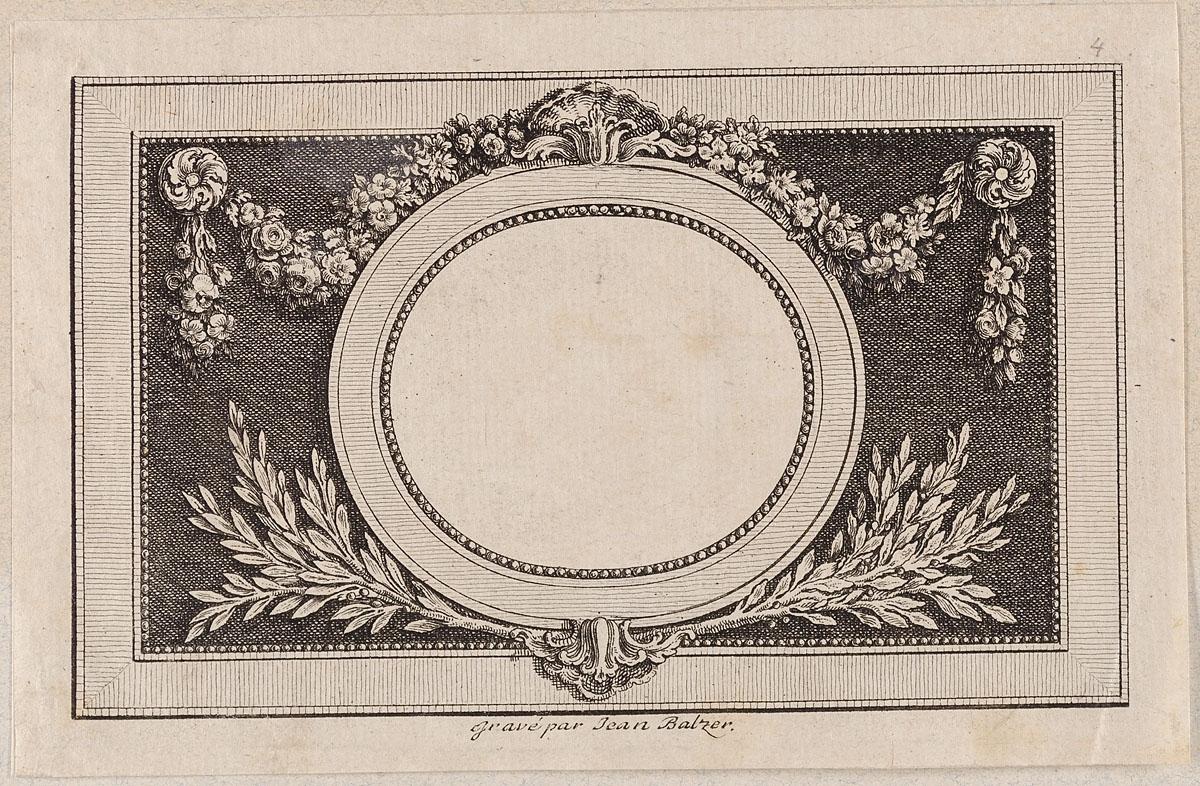 MKG Collection Online | Johann Heinrich Balzer | Rahmen mit runder ...